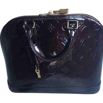 Louis Vuitton Alma Purple Patent leather Handbags