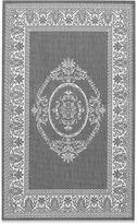Couristan Antique Medallion Indoor/Outdoor Rugs in Grey/White