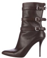 Helmut Lang Leather Pointed-Toe Boots