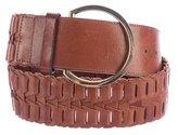 Roberto Cavalli Leather Woven Waist Belt
