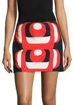 Milly Amphora Printed Mini Skirt