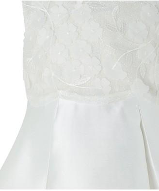 Monsoon Baby Girls Anika Ivory Dress - Ivory