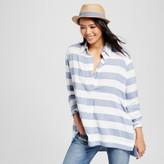 K by Kersh Women's Oversized Shirt Blue Stripe