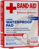 Bandaid First Aid 2.875X4 Waterproof Pad 6 ct
