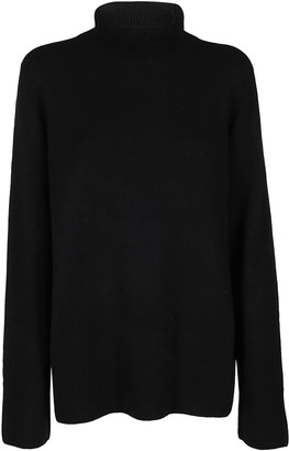 The Row Black Wool-cashmere Blend Jumper