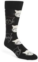 Happy Socks Men's Cat Socks