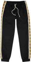 Gucci Black Logo-jacquard Jersey Sweatpants