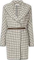 Fabiana Filippi patterned belted coat