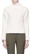 Rag & Bone 'Ida' button seam mixed knit turtleneck sweater