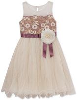 Rare Editions Layered Floral Ballerina Dress, Big Girls (7-16)