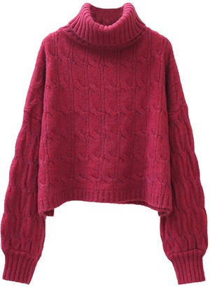 Goodnight Macaroon 'Ottilie' Turtleneck Cable Knit Sweater (5 Colors)