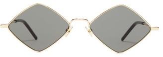 Saint Laurent Lisa Diamond-frame Metal Sunglasses - Womens - Gold Multi