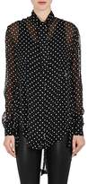 Ben Taverniti Unravel Project Women's Polka Dot Silk Oversized Blouse