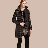 Burberry Down-Filled Coat with Detachable Fur-trimmed Hood