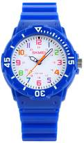 Jewtme Cute Kid Children Watch Colorful dial Watches Quartz Waterproof Watch For Boys Girls Students