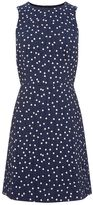 Warehouse Crinkle Spot Dress
