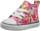 Polo Ralph Lauren Harbor Hi P Floral Fashion Sneaker (Toddler/Little Kid/Big Kid)