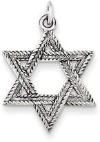 1928 Gold and Watches Sterling Silver Antiqued Star of David Pendant