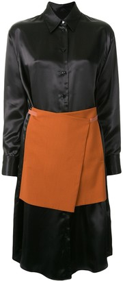 MM6 MAISON MARGIELA Apron Detailed Shirt Dress