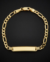Italian Gold 14K Figaro Baby Id Bracelet
