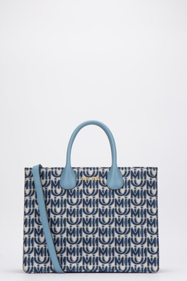 Miu Miu All Over Logo Top Handle Tote Bag