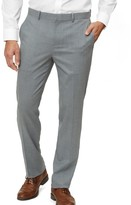 The Tie Bar Light Grey Solid Wool Pants