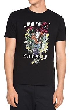 Just Cavalli Tiger Graphic Logo Tee