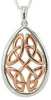 Celtic Solvar Sterling Silver & 18K Rose Gold Plated Knot Pendant