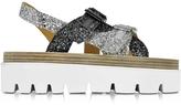 MM6 Maison Martin Margiela Two Tone Glitter Platform Sandal