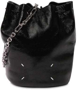 Maison Margiela Patent Leather Tabi Bucket Bag