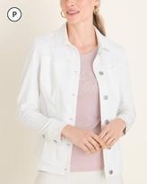Chico's Chicos Petite No-Stain White Denim Jacket