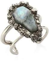 Alexander McQueen Pyrite & Crystal Double-Row Cuff