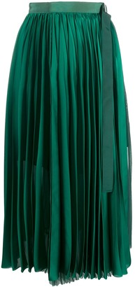 Sacai High Waisted Pleated Skirt