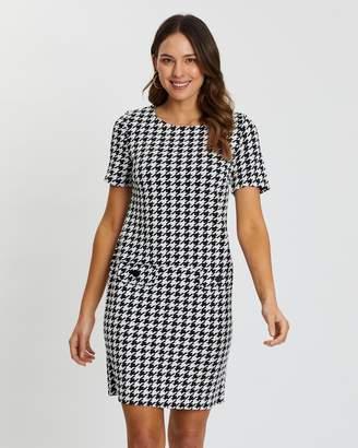 Wallis Dogtooth Pocket Shift Dress