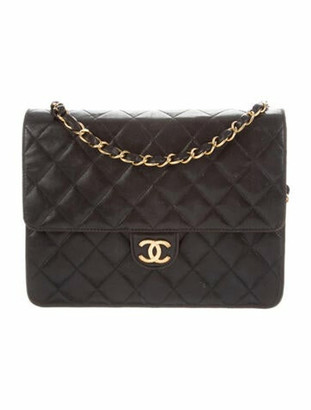 Chanel Vintage Quilted Flap Bag gold