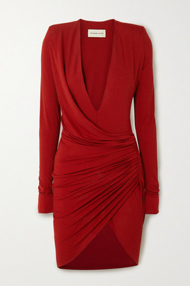 Alexandre Vauthier Ruched Stretch-jersey Mini Dress - Red