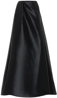 Alex Perry Dresden high-rise satin maxi skirt