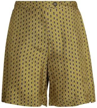 Max Mara Fuoco Printed Silk Shorts