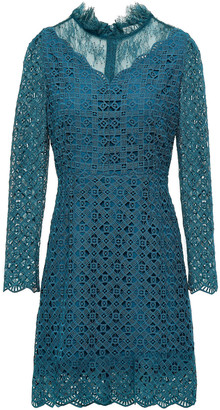 Sandro Bartsie Paneled Scalloped Macrame Lace Mini Dress