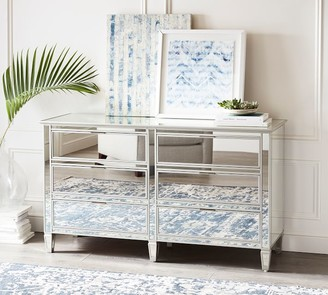 Pottery Barn Park 6-Drawer Wide Mirrored Dresser