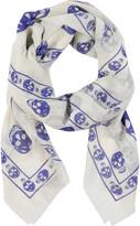 Cashmere-blend skull-print scarf