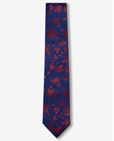 Express floral narrow silk tie
