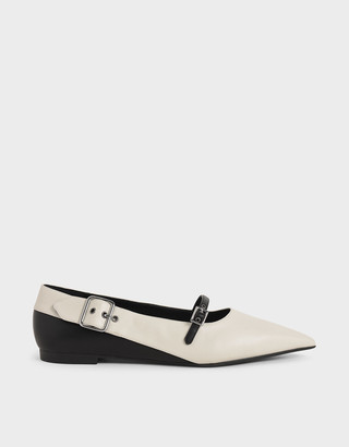 Charles & Keith Buckle Detail Mary Jane Flats