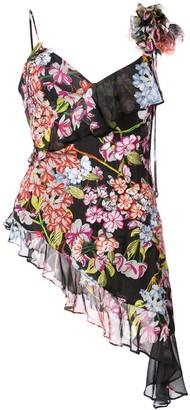 Josie Natori Hokkaido Blossom embroidered blouse