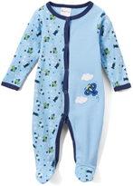 Sweet & Soft Blue Airplane Footie