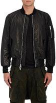 Ben Taverniti Unravel Project Men's Graphic Leather Bomber Jacket-BLACK