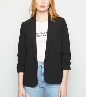 New Look Ruched Sleeve Blazer