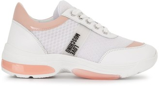 Love Moschino Logo-Patch Low-Top Mesh Trainers