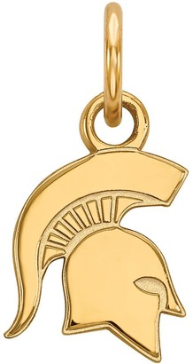 LogoArt 14K Gold Over Silver Michigan State Spartans Extra Small Pendant