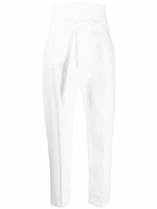 D-Exterior High-Waisted Cropped Trousers